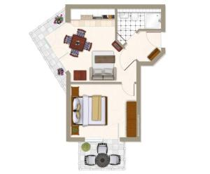 Villa Strandperle_ Whg_ 24, Апартаменты  Зеебад-Бансин - big - 8