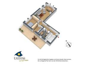 Villa Malve Wohnung 05, Apartmány  Bansin - big - 8