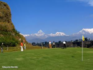 Camp de golf (a l'establiment) Pokhara Abroad Inn
