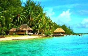 Blue Heaven Island, Лоджи  Бора-Бора - big - 23