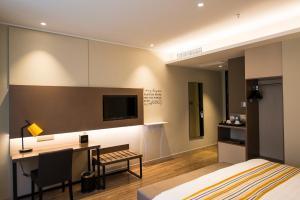 Home Inn Plus Shanghai Pudong Airport Chuangsha Metro Station, Hotely  Šanghaj - big - 5