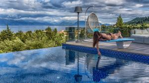 Luxurious Villa Kastro with Salt Water Swimming Pool, Ville  Nikiana - big - 61