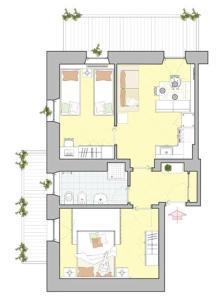 Appartamento con 2 Camere da Letto e Vista Lago (4 Adulti)
