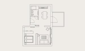 Lejlighed med 1 soveværelse (2 voksne)