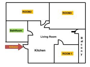 House in Hongdae 5, Апартаменты  Сеул - big - 24