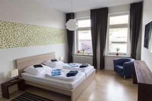 Stilvolle Altbauwohnung in zentraler Lage, Apartmanok  Kiel - big - 16