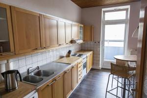 Stilvolle Altbauwohnung in zentraler Lage, Apartmanok  Kiel - big - 5