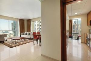 Suite mit 2 Schlafzimmern und Blick auf Burj/Springbrunnen