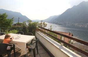 Lake view apartment with terrace and garden