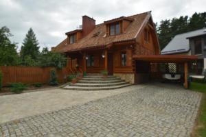 Chata Mazury Drewniany Dom Malkinie k/Ełku Małkinie Polsko