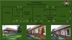 Öreg Bence Háza, Apartmanok  Füzérkomlós - big - 13