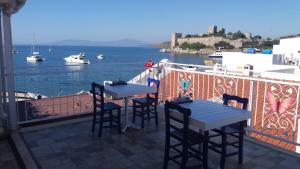 White and Blue Bodrum