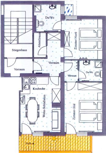 2 hálószobás apartman, erkéllyel (Two-Bedroom Apartment with Balcony)
