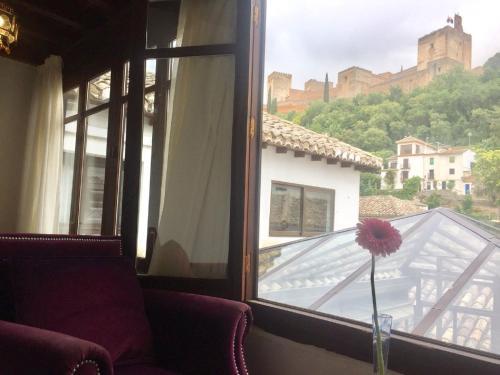 Habitación doble con vistas a la Alhambra - 1 o 2 camas Palacio de Santa Inés 22
