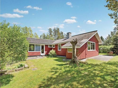Holiday Home Knebel with a Fireplace 4