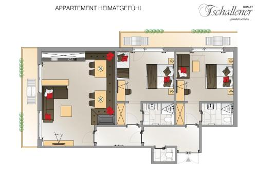 Großes Zwei Schlafzimmer Apartment (Large Two-Bedroom Apartment)