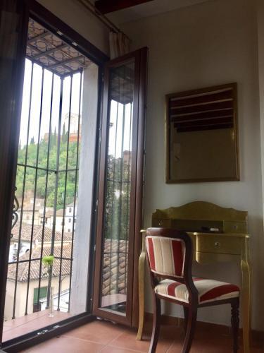 Habitación doble con vistas a la Alhambra - 1 o 2 camas Palacio de Santa Inés 23