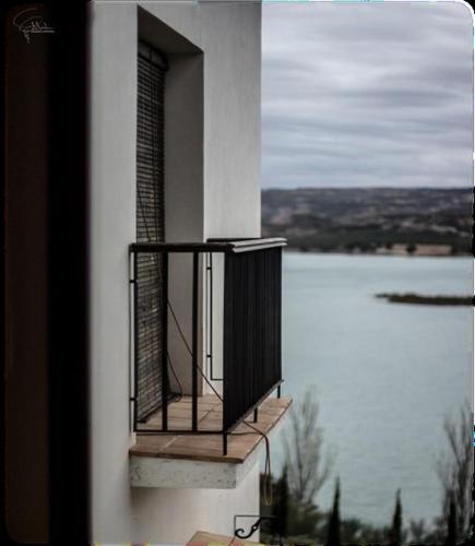 Doppelzimmer mit Seeblick Hotel Balneario de Zújar 3