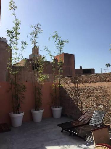 Appart Art Deco solarium, 马拉喀什