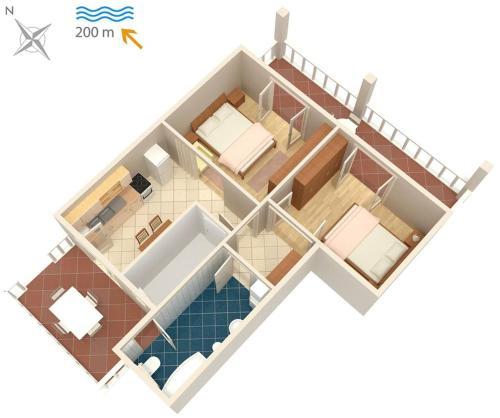 Apartment Malinska 5456a