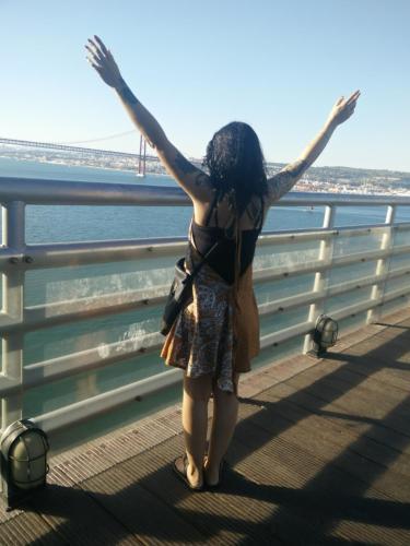 Margem do rio Tejo, pé de Lisboa,Cacilhas Almada