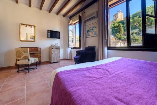 Habitación doble con vistas a la Alhambra - 1 o 2 camas Palacio de Santa Inés 2
