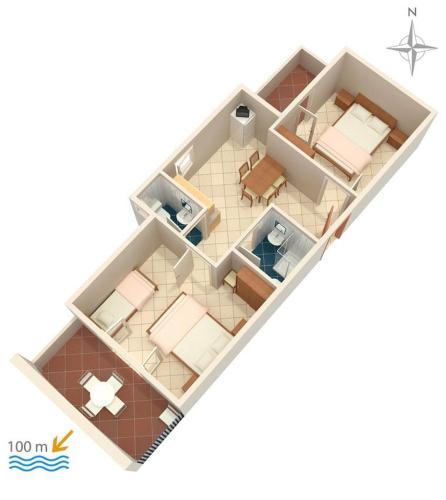 Apartment Zubovici 4130f