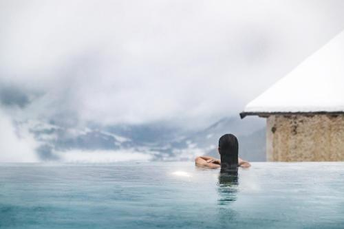 Old roman baths with view over bormio picture of terme bagni