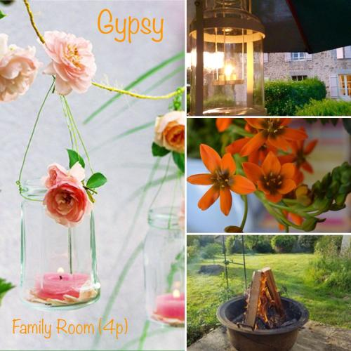 Domaine Charente - Familyroom Gypsy with garden (with external toilet & shower house)