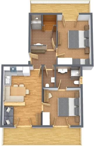 Comfort Two-Bedroom Apartment - Penthouse