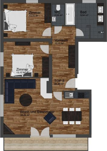Apartament Deluxe (4 Adults) (Deluxe Apartment (4 Adults))