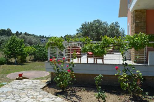 Villa With Private Pool - Balcony/terrace Exclusive Villa in Sani Area