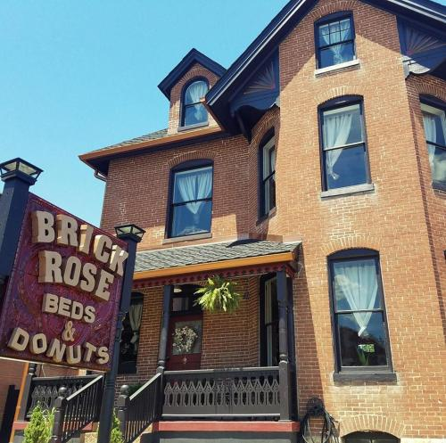 Brick Rose Beds & Donuts