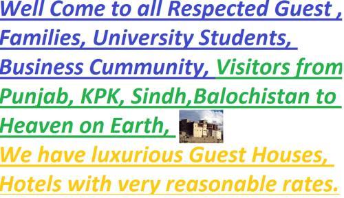 Hunza Hotel and Guest House Gilgit Baltistan, Hunza