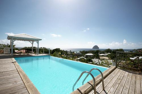 Villa with outstanding ocean view, Le Diamant