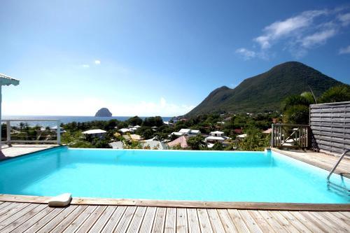 Villa bottom with exceptional ocean view, Le Diamant