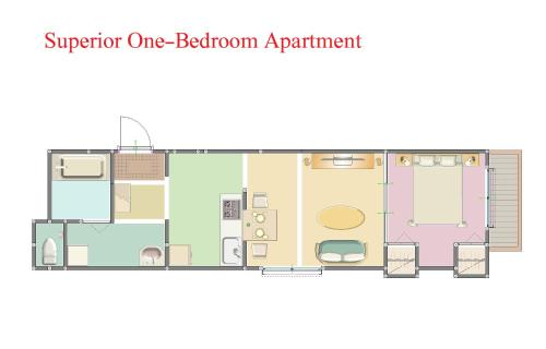 單臥室高級公寓 (Superior One-Bedroom Apartment)