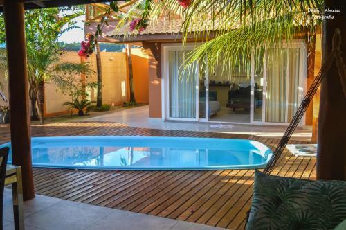 Casa de beira mar com piscina