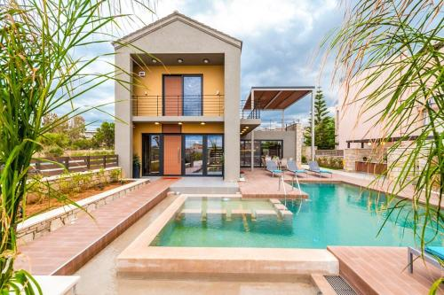 Kolimbari Villa Sleeps 6 Pool Air Con WiFi, Kolimvari