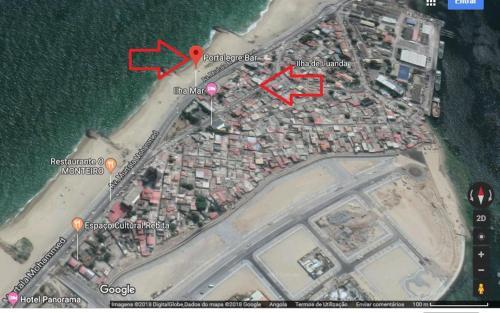 Apartamento p/arrenda R/C Ilha de Luanda, Luanda
