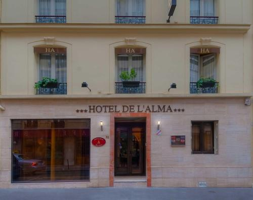 H tel de l 39 alma paris h tel 32 rue de l 39 exposition for Hotels 75007