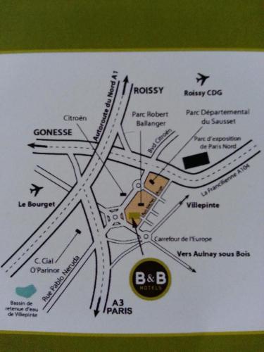 B&B H�tel Paris Nord Aulnay-sous-Bois