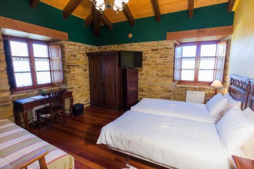 Doppel- oder Zweibettzimmer Casa do Merlo 5