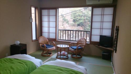 Twin Room with Tatami Floor with Shared Bathroom