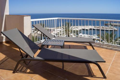 Doppelzimmer mit Terrasse und Panoramablick auf das Meer (Double Room with Terrace and Panoramic Sea View)