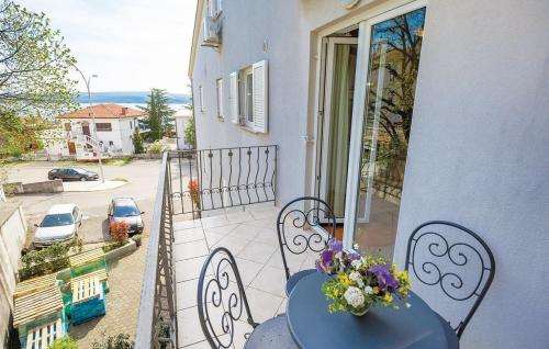 Two-Bedroom Apartment with Sea View in Crikvenica