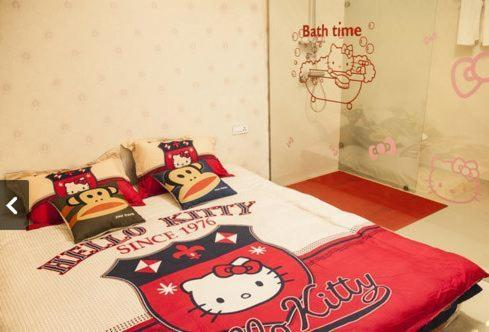 Queen Room with futon bed Xitang Aizhiwu Theme Inn