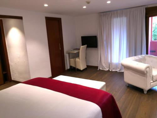 Suite Junior con chimenea y acceso al spa Hotel Del Lago 10