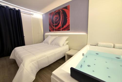 Deluxe Doppelzimmer mit Whirlpool (Deluxe Double Room with a Hot Tub)