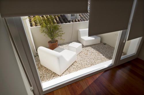 Doppelzimmer mit Terrasse Hotel Viento10 4